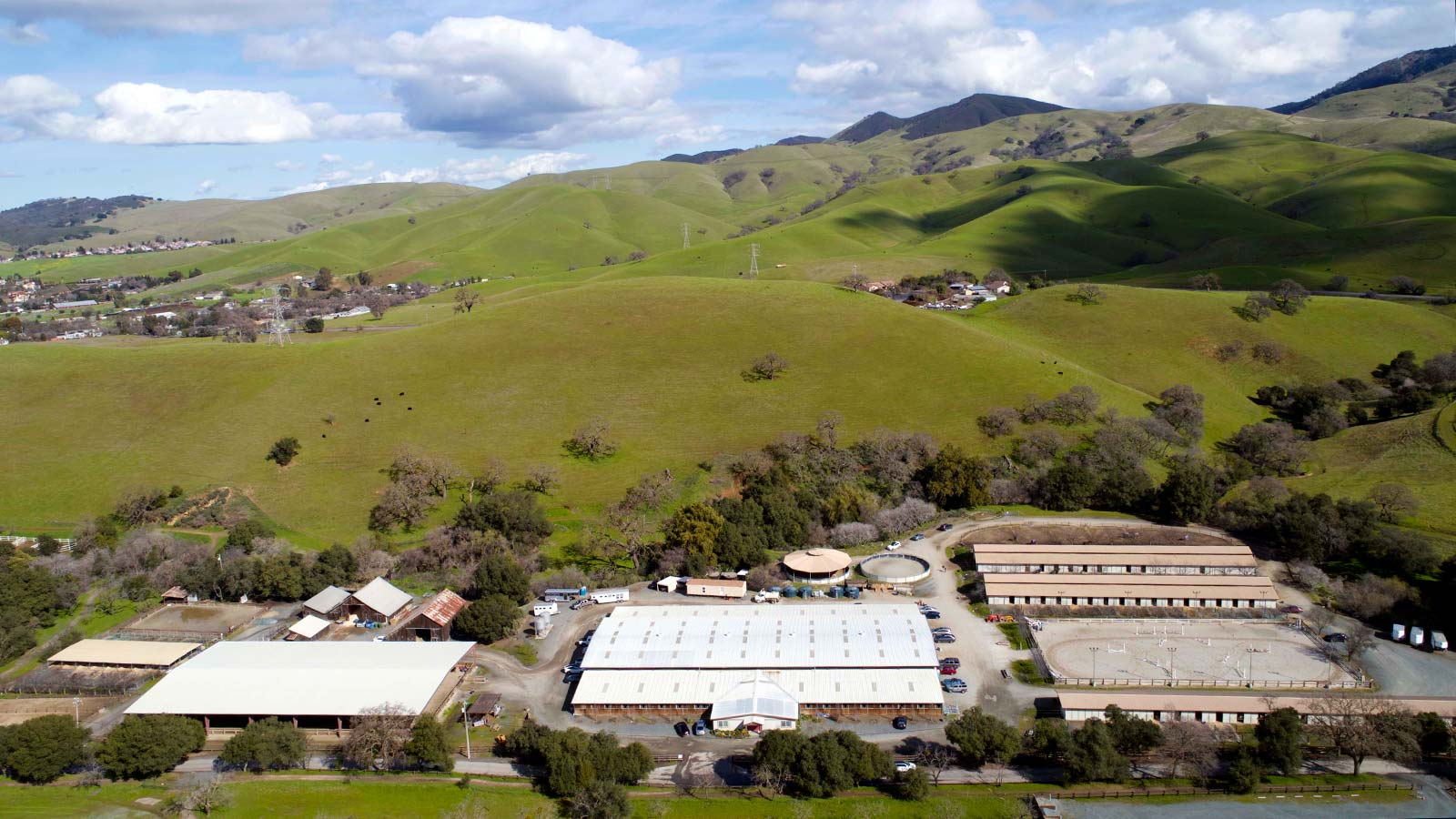 Aerial view of North Peak Equestrian property