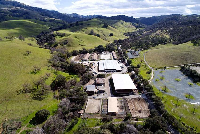 North Peak Equestrian From Above