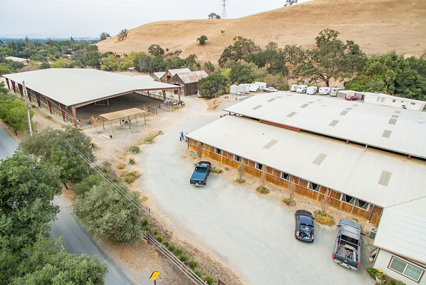 North Peak Equestrian Property From Above